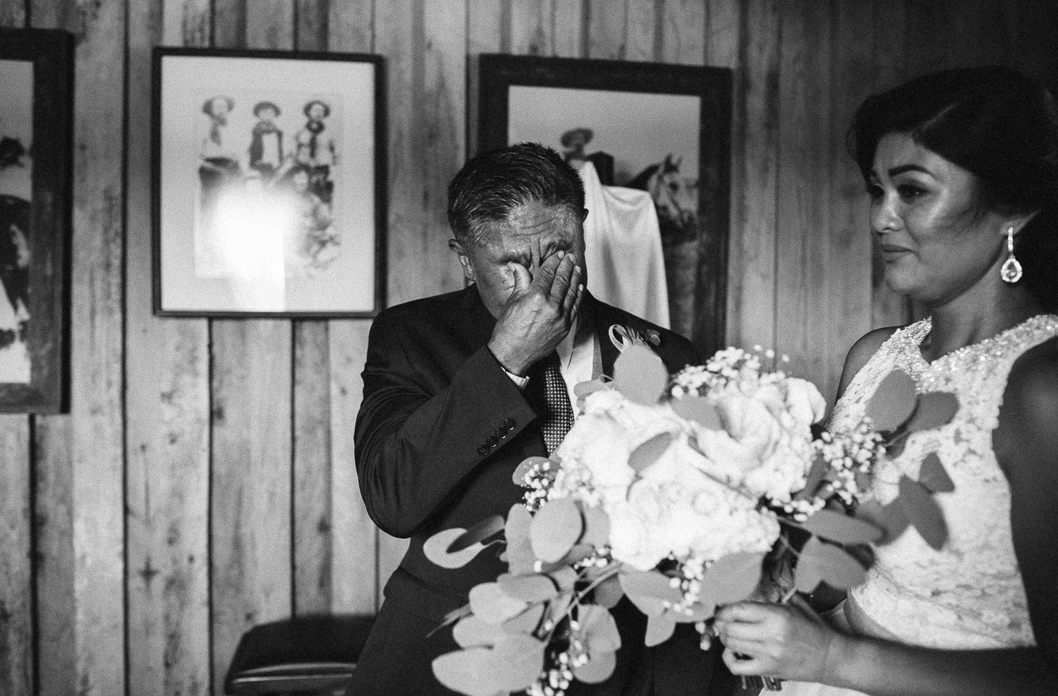 crying father of the bride